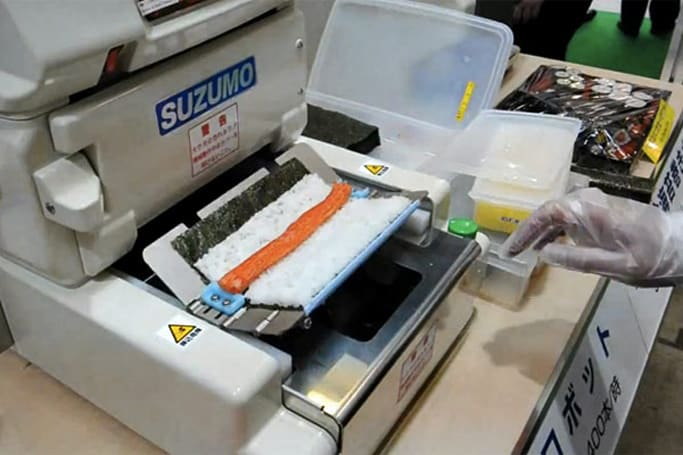 Suzumo SushiBot pumps out 300 Kwik-E-Mart rolls per hour (video)