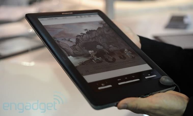Hanvon brings world's first color E Ink reader to CES, we go hands-on (video)