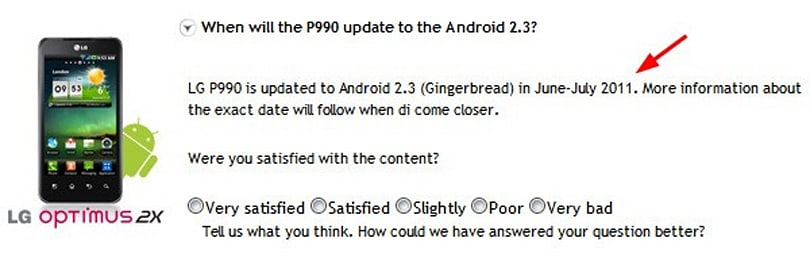 LG Optimus 2X to be upgraded to Gingerbread in summer, says Danish support site (updated)