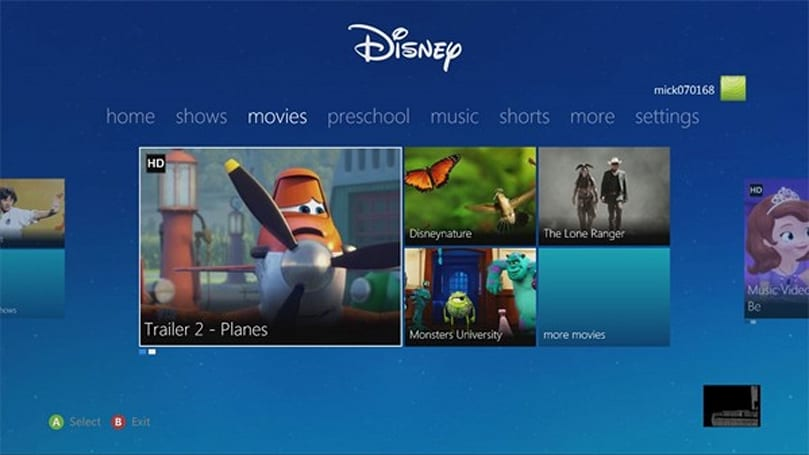 Best of Disney App enters Xbox 360 kingdom