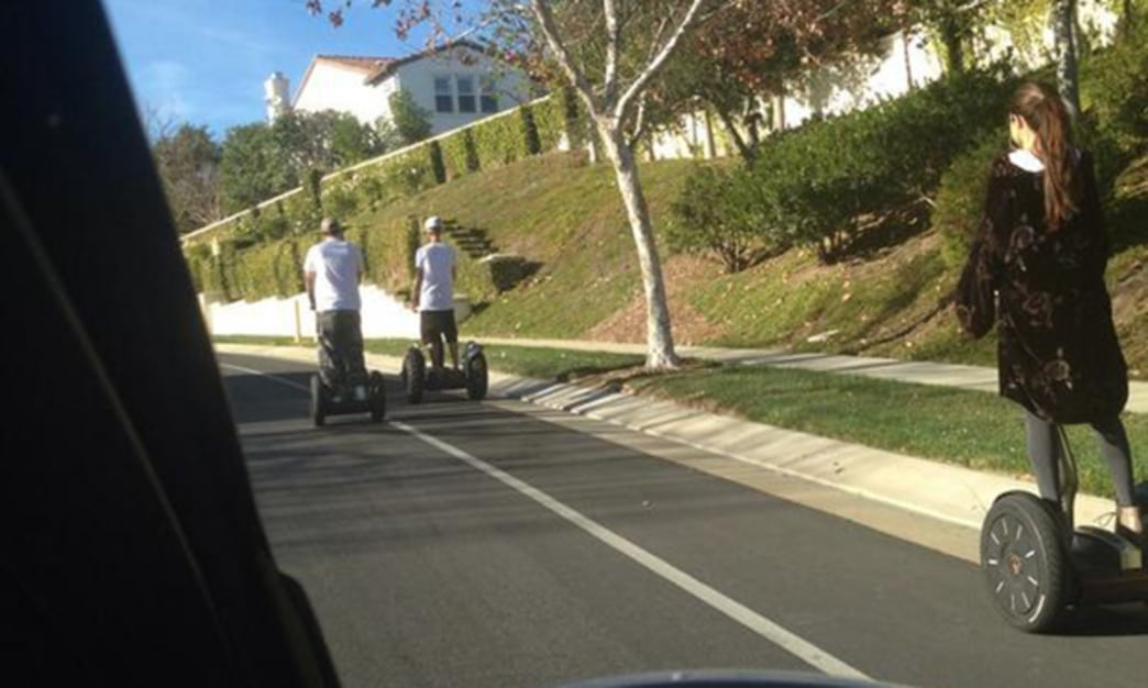 Justin Bieber and Selena Gomez take a romantic ... Segway ride?