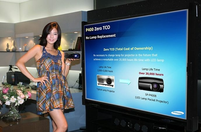 Samsung releases SP-P400 mini projector, includes a price