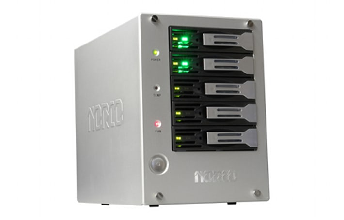 Norco DS-520 home NAS is probably more server than you need