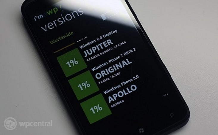 Is Windows Phone 8 popping up on a WP7 App?