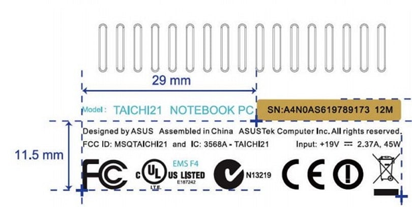 ASUS' TAICHI convertible laptop hits the FCC