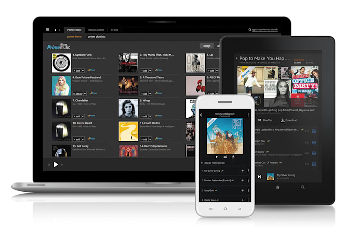 Amazon's Prime Music stores tracks on an SD card