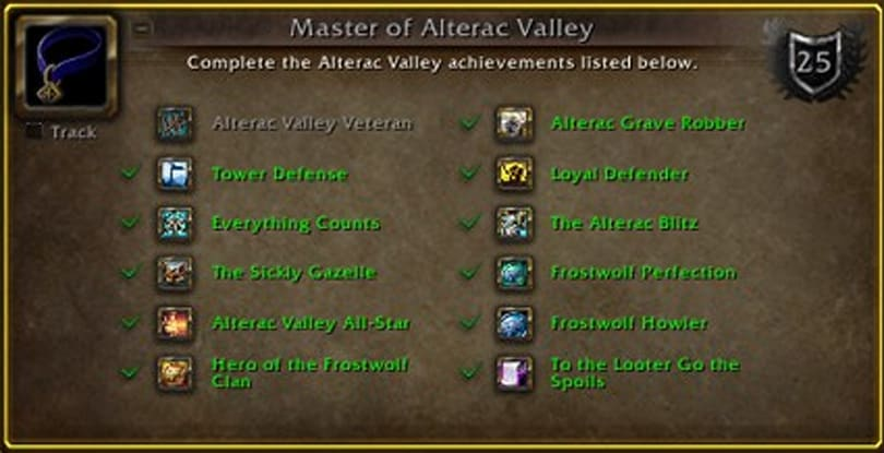 The OverAchiever: Master of Alterac Valley