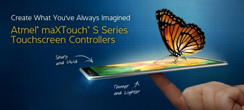 Atmel maXTouch S touchscreen controllers promise thinner and lighter devices, reduced display noise