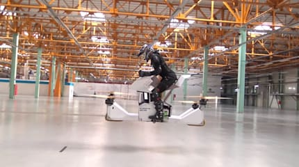 動画:ロシア製ホバーバイクが有人飛行試験を公開。Xスポーツ向け製品化を狙う