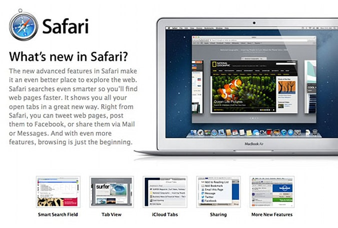 Apple unveils Safari 6: goes well with your new Mountain Lion (update: Windows version absent)