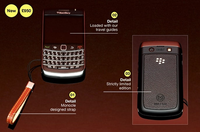 Monocle offers custom BlackBerry 9700 for the discerning business traveler