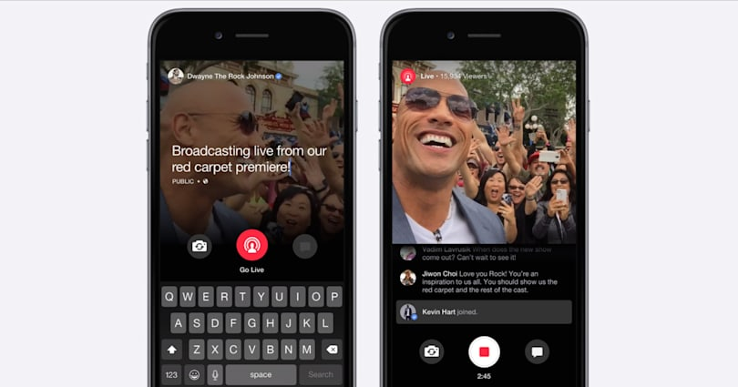 Facebook does live video streaming, if you're a celebrity