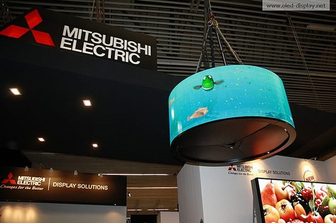 Mitsubishi creates giant curved OLED, probably won't fit in your living room (video)