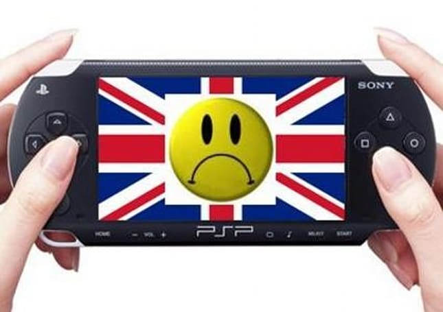 PSP software sales in the UK dropped dramatically during 2008