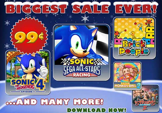 Sega discounts select PSN, iOS, XBLA games for the holidays