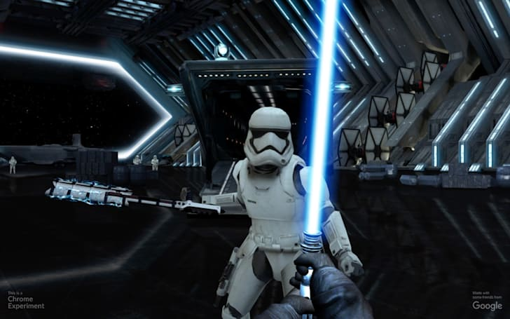 Your phone is a lightsaber in Google's desktop browser game