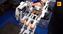 Cyborg arm made of Lego can flex its fingers and shake hands