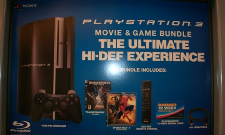 Blockbuster selling high-end PS3 bundles