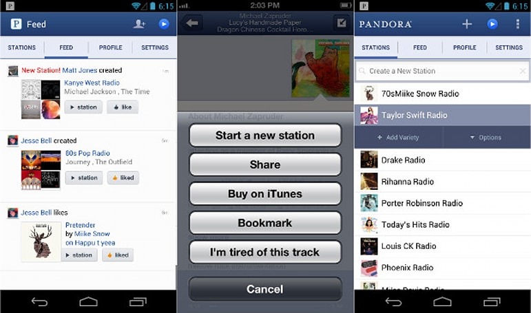 Pandora cranked out over 13 billion hours of music in 2012