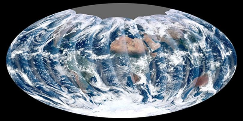 NASA shows first global image taken from new satellite; Captain Planet approves