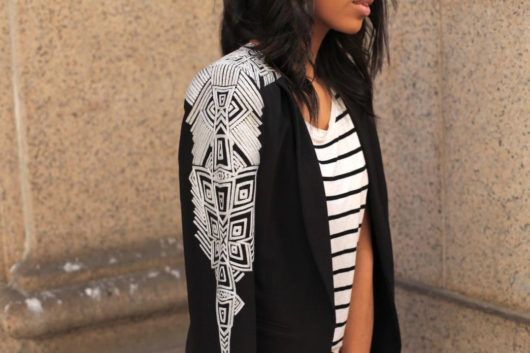 Look we love: BCBG's embroidered blazer
