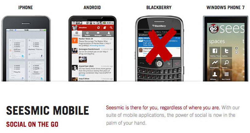 Seesmic Twitter app drops BlackBerry support, RIM's frown sags even lower