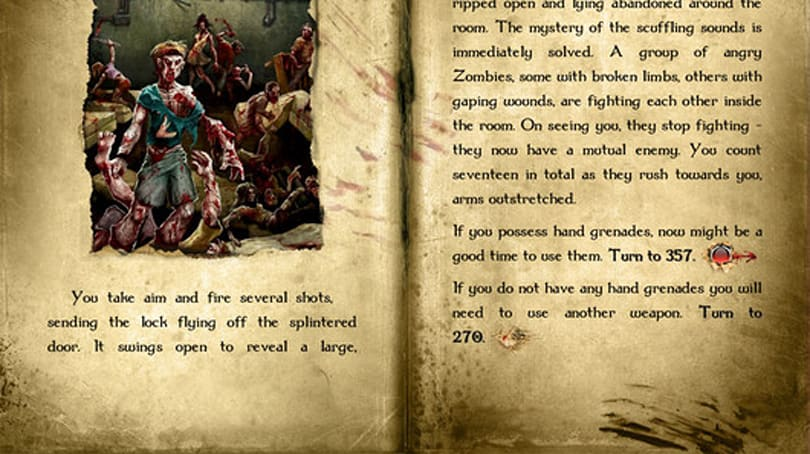 Fighting Fantasy Blood of the Zombies now on iOS and Android