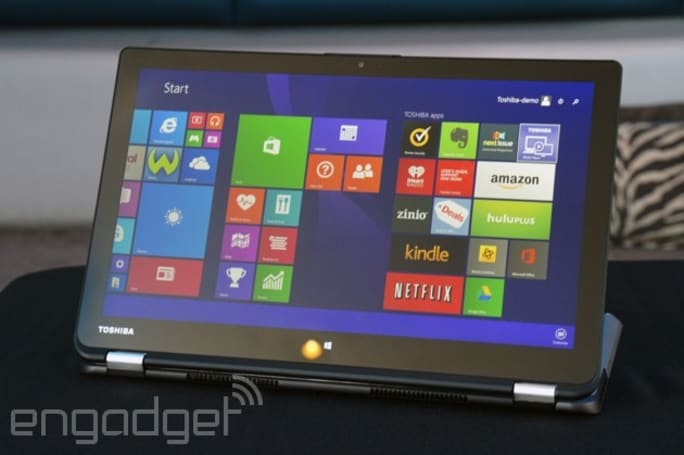 Toshiba is the latest PC maker to rip off Lenovo's Yoga line