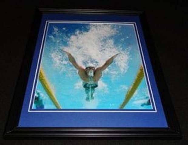 Michael Phelps framed 8x10 poster from 2004 Olympic Games