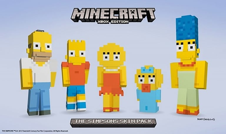 The Simpsons skin pack embiggens Minecraft
