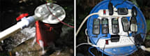 Bucket-based hydroelectric generator powers up small gadgets