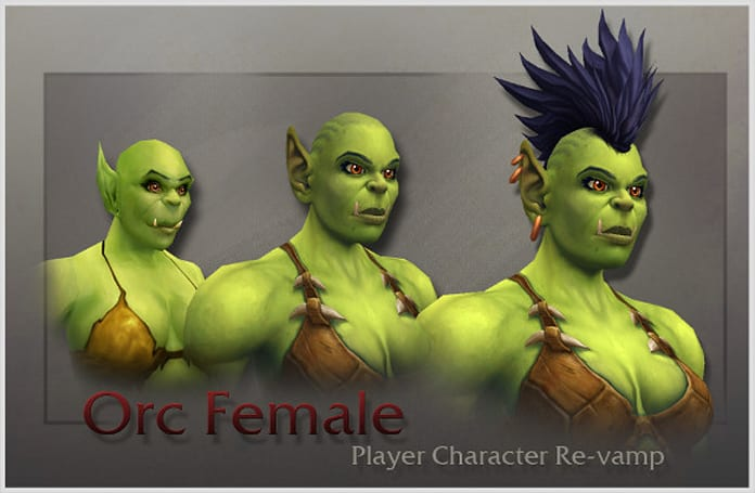 Orc female model revealed