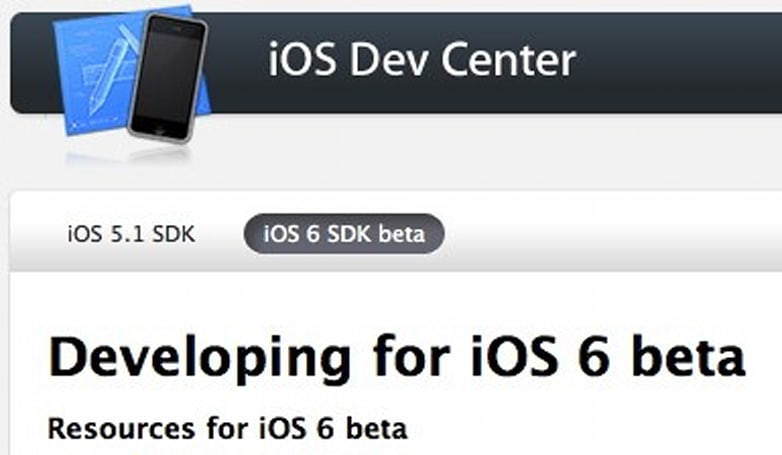 iOS 6, OS X Mountain Lion SDKs and betas now available for dev download