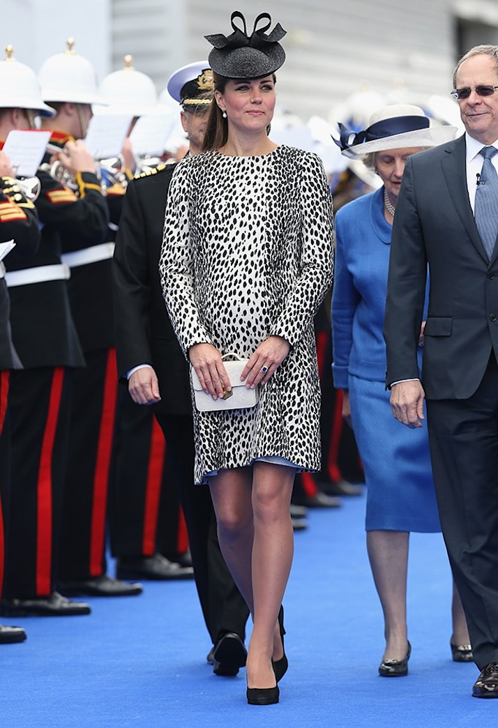 Kate Middleton Names Cruise Ship in Printed Hobbs Coat
