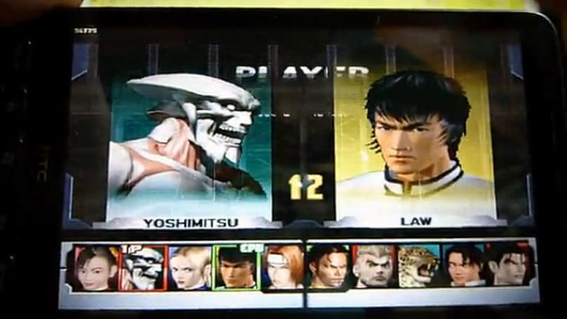 HTC HD2 plays Tekken 3 using FPSECE emulator