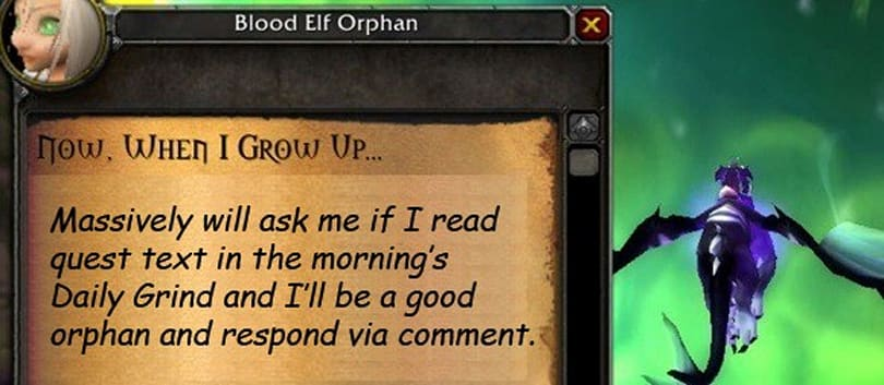 The Daily Grind: Do you read the quest text?