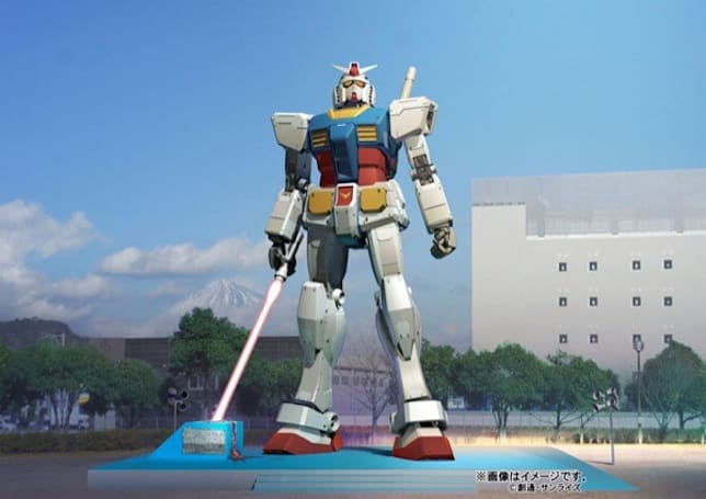 Giant Gundam statue returns with beam saber to threaten Mt. Fuji