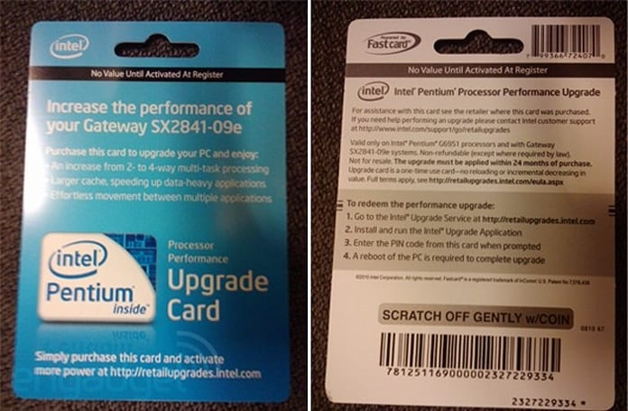 Intel wants to charge $50 to unlock stuff your CPU can already do