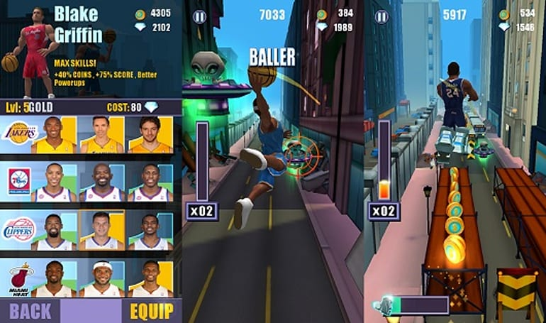 Aliens are no match for Lebron and Kobe in iOS endless runner NBA Rush