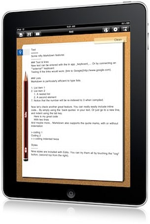 Edito, Markdown editor for iPad
