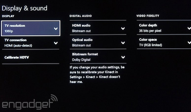 Xbox One update preview adds new audio, Kinect options and a fix for UK TV