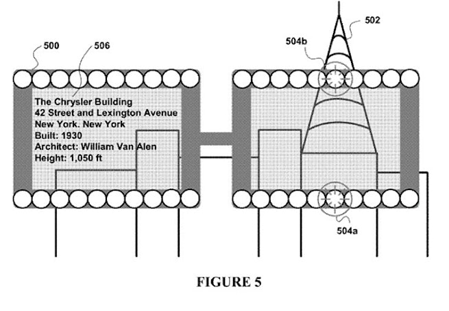 Google patents view augmentation method and glasses, sees what you cannot