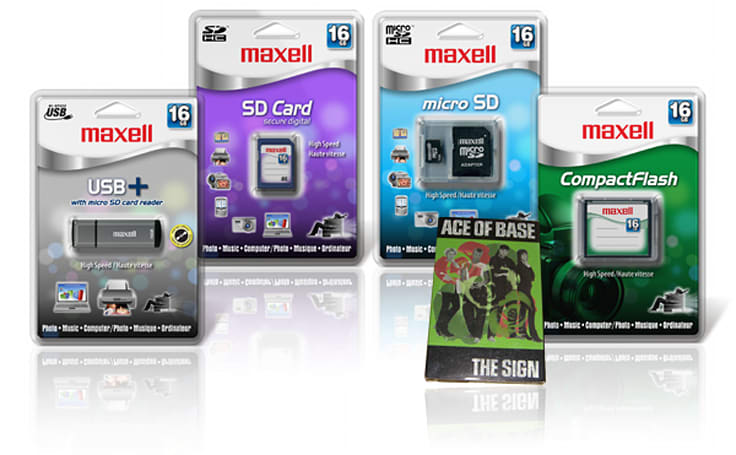 Maxell launches flash storage line