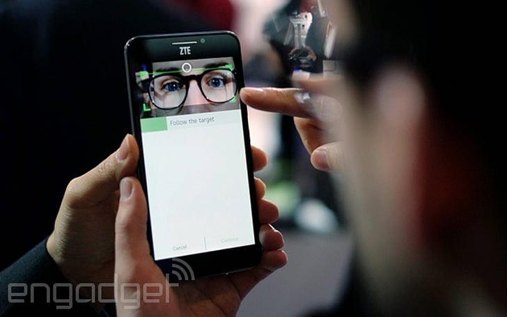 You can unlock this smartphone with the blood vessels in your eyes