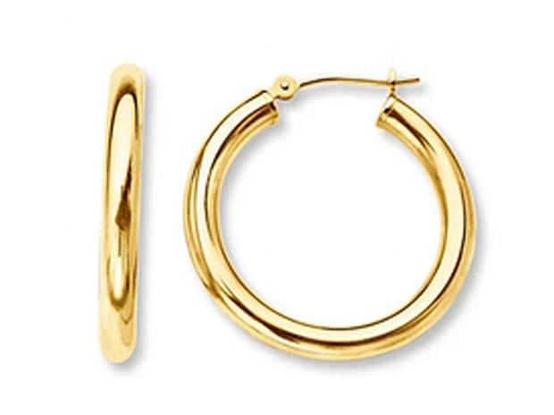 Solid 14kt Gold French Lock Hoops