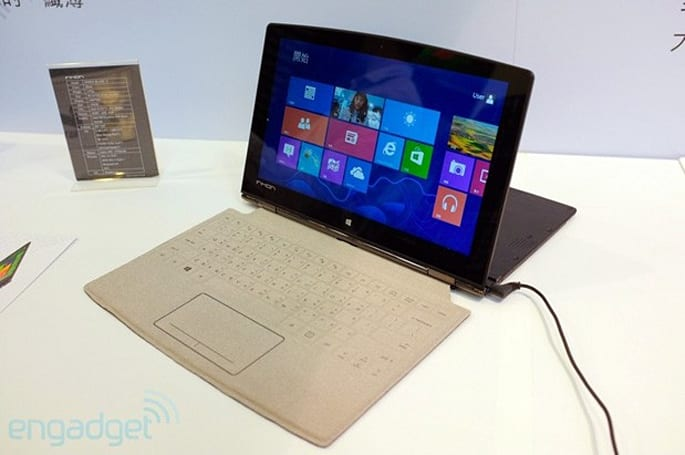 Inhon Carbon Tablet unfolds for a CPU boost, wields a Surface-style keyboard
