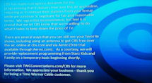Time Warner Cable loses CBS channels, CBS says first time dropped from cable