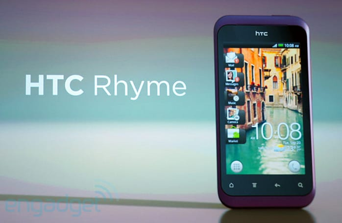 HTC Rhyme official: 3G, 3.7-inch display, single-core CPU, headed to Verizon for $199 on contract