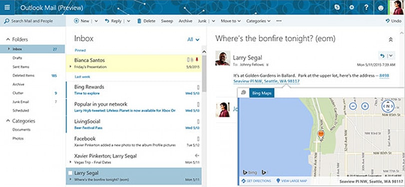 Microsoft brings Clutter's inbox organization to Outlook.com
