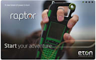 Eton Raptor emergency radio trades the crank for solar power, rakish good looks